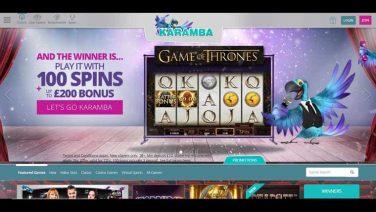 Karamba Casino screenshot (1)