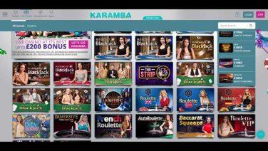 Karamba Casino screenshot (2)
