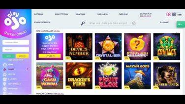 PlayOjo Casino screenshot (2)