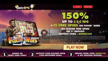Fruity King Casino screenshot (1)