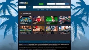 paradisewin casino screenshot (3)