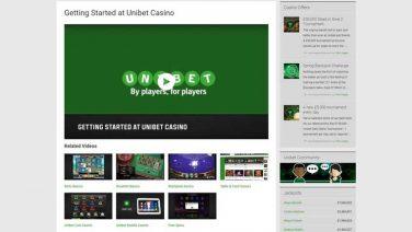 Unibet Casino screenshot (2)