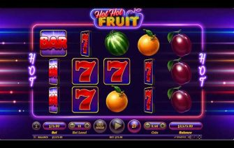 You might think that Hot Hot Fruit is just another fruit-themed online video slot, but you would be wrong. Spin the wheels and discover a Hot Hot Feature that is triggered at random and that will make your symbols split and count as two; and a Free Spins Bonus Game, which might be a usual thing in the slot world, but not in the classic fruit themed slots world. Spin the 5 reels and 3 rows from as little as €0.15 and, depending on whether or not you feel like you're on a winning streak, up your bet to as much as €300. As the reel spin, watch out for the randomly triggering Hot Hot Feature. Once active, a random series of symbols will be turned into multiplied icons. You can end up with double wilds and Bar logos, plums, oranges and watermelons, while the Red 7 can become a tripled symbol. Up to 12 Free Spins are waiting to be won. To do so, a combination of 3 wilds appearing both from left to right and from right to left. Hot Hot Fruit Slot Game Features Bonus Rounds: Hot Hot Feature, Free Spins, Symbols: Blue Wild, Red Wild, Seven, Bar, Plum, Orange, Watermelon Free Spins: Yes Why play it: Hot Hot Fruit is a really juicy fruit themed online video slot, with all the classic elements of a classic as well as exciting modern video slot features like splitting symbols and free spins.