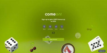 comeoncasino screenshot homepage 1