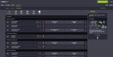 comeoncasino screenshot live sports 4