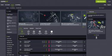 comeoncasino screenshot sports 2