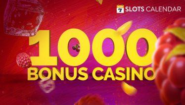 15+ Online Casinos that Offer 1000€ Bonuses