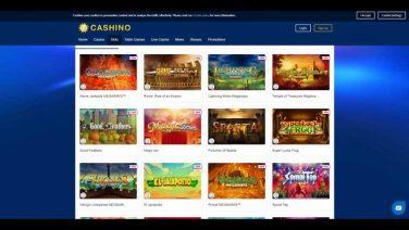 cashino casino screenshot (2)
