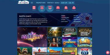 fantasino casino games screenshot 2