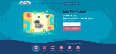 fantasino casino homepage screenshot 1