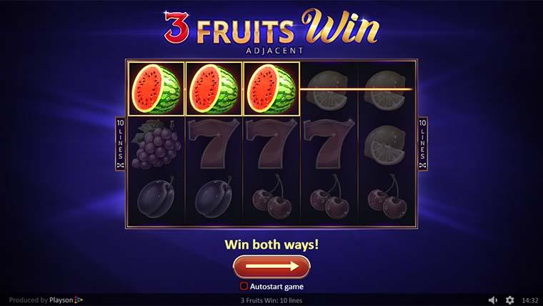 Spiele 3 Fruits Win: 10 Lines - Video Slots Online
