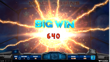 Space Spins Wazdan screenshot big win