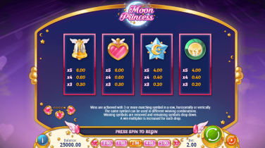 moon princess Symbols