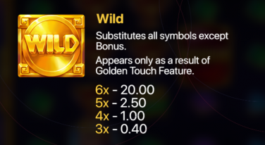 Hand of Gold Golden Touch wild symbol