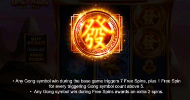 Royal Dragon Infinity Reels Gong Symbol