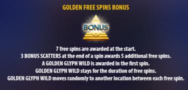 Golden Glyph 2 free spins