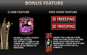 Krazy Klimber Bonus Features