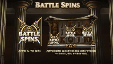 Legend of Athena Battle Spins