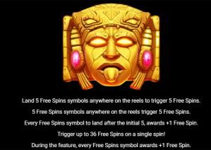 Maya U Max Free Spins