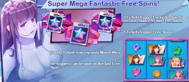 Candy Island Princess Mega Fantastic Free Spins Feature