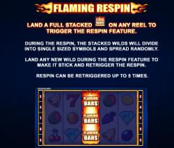 Flaming Bars flaming respin