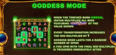 Isthar Powerzones Goddess mode feature